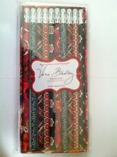 Retired Vera Bradley 10 Pencils Carnaby Coordinates Pirouette Fall Set