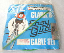 Clarks Brake & Shift Cable Set Housing Green Easy Glide Vintage Bike Wire NOS