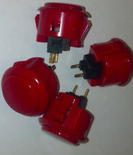 Red Sanwa arcade button OBSF-30 set of 4