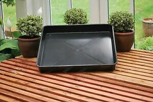 Square garden tray black plastic potting 60cm by 60cm ideal for greenhouse