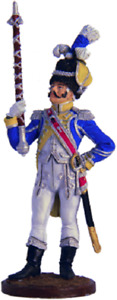 Toy soldiers 54mm. trumpeter of the Moscow Dragoon regiment. Russia, 1803-06