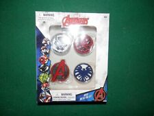 Marvel Avengers 4 Piece Metal pin Set Avengers,Shield, Hydra and Black Panther