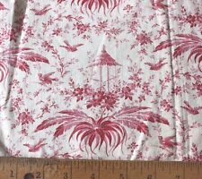 Lovely Small Scale Antique French Chinoiserie Toile Printed Bag c1870