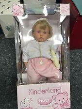 Götz Hildegard Günzel Puppe Vinyl Puppe 52 cm. Top Zustand
