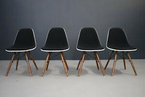 Vitra 1 x Side chair DSW Charles Eames Fiberglas Hopsak schwarz