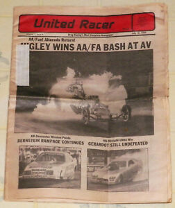 "RARE ""UNITED RACER"" DRAG RACING NEWSPAPER--JULY 15,1985--""FUEL ALTERED"" COVER!!!"