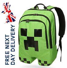 Minecraft Bag Creeper Rucksack Camping School boys Back Pack  Backpack Rucksack