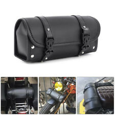Universal PU Leather Motorcycle Handlebar Tool Bag Saddlebag Luggage Storage US