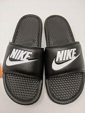 NEW Nike Benassi JDI Men's  343880-090 Size 9/10/12  Black/White Slides Sandals
