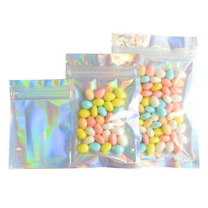 Rainbow Resealable Bags Aluminum Foil Gift Bags Candy Cookies Ziplock Bags