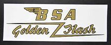 """BSA GOLDEN FLASH CUSTOM GAS TANK DECAL 7"""" x 2.75"""""""