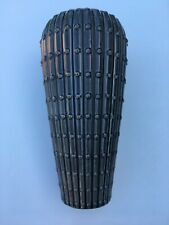 """Grey Dotted 10 1/2"""" Tall Vase - Ceramic Flower Pot Smooth - Flowers - Decor"""