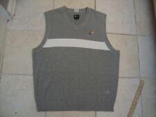 NCAA Kansas Jayhawks Gray Adidas Basketball Football Sweater Vest Men's Size L