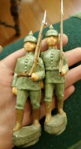 Unfinished 10.5cm 1914 German Infantry lead Toy Soldiers Dan Bohline