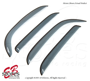 For Nissan Cube 2009-2015 Tape On Ash Grey JDM Window Visors Deflector 4pcs