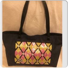Givenchy Denim with Pink   Yellow sequence leather handle Tote Shopper Bag 197a483eee6d6