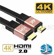 Premium HDMI Cable v2.0 Gold High Speed HDTV UltraHD 18Gbps 2160p 4K 3D 1M