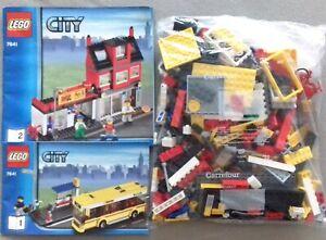 LEGO 7641 City Corner (#2) Pizzeria bus (missing some parts, see description)
