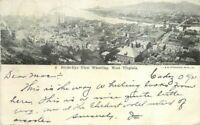 Birdseye View Wheeling West Virginia #3 1907 Postcard undivided 20-11252