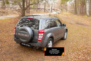 Tuning trim on the rear bumper of Suzuki Grand Vitara 2005-2012