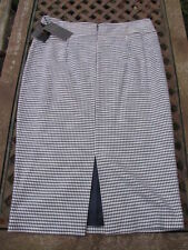 Cotton Check Straight, Pencil Skirts for Women