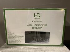 HD Designs Outdoors • 4 Hanging Wire Fireballs • For Indoor And Outdoor • NIB