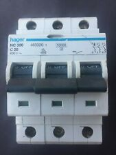 Hager NC320 C20 20A 3 Phase MCB