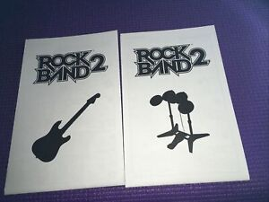 Rock Band2 Nintendo Wii Manuals Only For Drums & Guitar Great Condition FreeShip