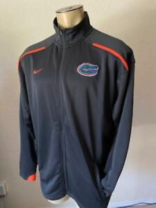 NIKE TEAM Men's Embroidered Florida Gators Charcoal Full Zip Size Large