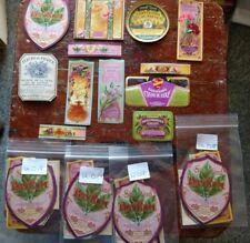 60 Assorted 1900-1930 Perfume Labels Lancaster PA Jacob Eisemann Victorian Era