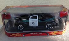 Motormax American Graffiti Police Car 1940 Ford Coupe Black 73100G Movie 1:18