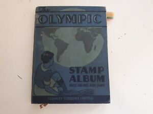 OLD OLYMPIC STAMP ALBUM : WORLD COLLECTION - 1125 USED STAMPS.