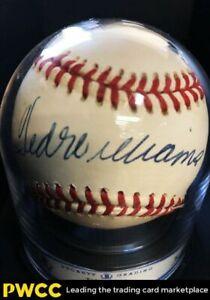 Ted Williams Signed Autographed Baseball Sweet Spot AUTO, BAS 8, LOA