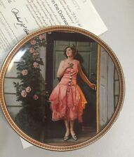 """Norman Rockwell Collectible Plate """"Standing In The Doorway"""" by Knowles, Box&Coa"""