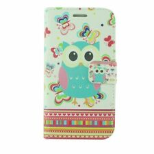 For Samsung Galaxy J7 (2018)/J7 Refine/J7 Star Butterflies Owl Leather Case