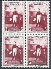 El Salvador 1954 Sc# 658 Gen Manuel Jose block 4 MNH