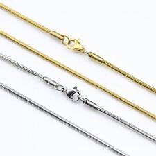 Schlangenkette 1,2 mm 750er Gold 18K vergoldet gold silber Damen Herren K2599L