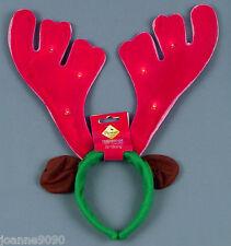 Kostüm Weihnachten Rentier Stirnband Geweih mit blinkende Lichter und Musik