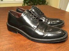 TO BOOT by ADAM DERRICK Mens Size 8.5 Black Leather Lace-Up Dress Shoes ITALY