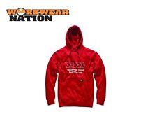 Sudadera con capucha de hombre rojo