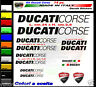 Adesivi moto ducati corse kit 14 stickers per carene serbatoio e codone