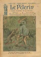Wolves Paysan de La Dombes dans l'Ain Loups Louves Louveteaux  1921 ILLUSTRATION