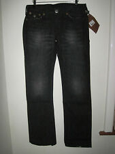 True Religion Billy Big T Urban lady Cowboy Jeans 12-14 30W black distress