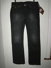True Religion Billy Big T Urban lady Cowboy Jeans 12-14 30W black distress