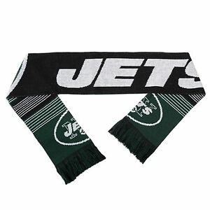 "NFL New York Jets 2015 Split Logo Reversible Scarf 64"" by 7"" by FOCO"