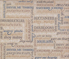 5p Scrapbook paper Pirate sayings Birthday Party Card Boston Carribbean Vacation