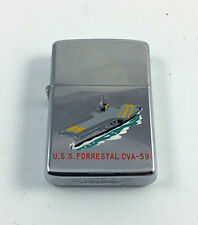 1959 Vintage USS Forrestal Vietnam era Zippo lighter