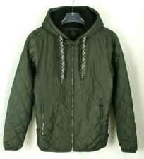 Hawke & Co Men's Green Quilted Hooded Puffer Jacket Retail $125