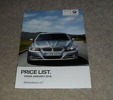BMW 3 Series E90 listino prezzi OPUSCOLO SE M Sport 318 320 325 i 325d 330d 335d 2010