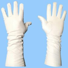 NEW MENS EXTRA LONG WHITE SILK LINED LAMBSKIN LEATHER GLOVES - Extemely Soft